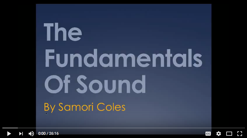 The Fundamentals Of Sound